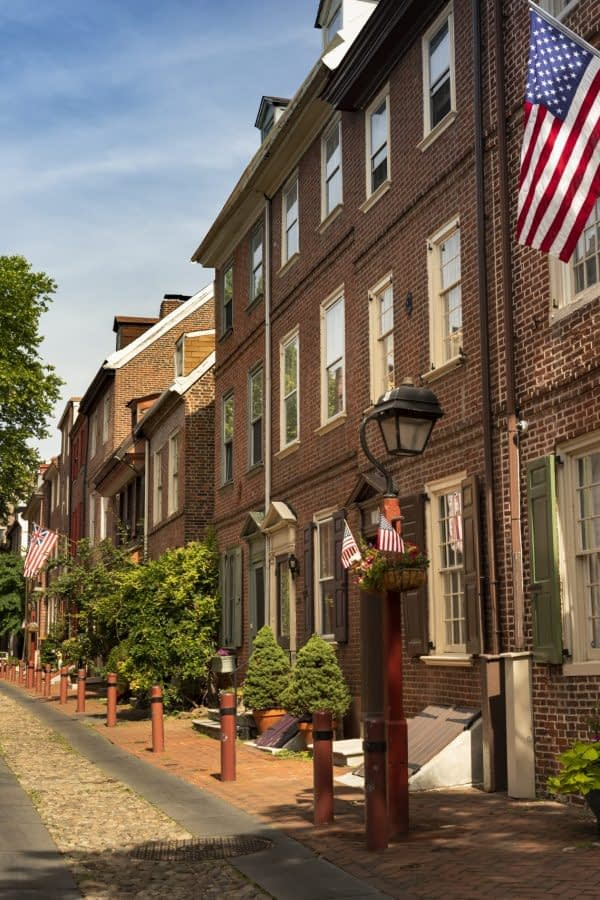 Elfreths Alley is the Oldest Residential Street in the United States Philadelphia Pennsylvania